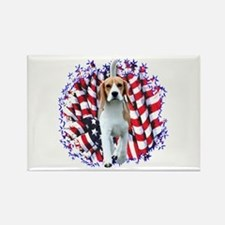 Beagle Patriot Rectangle Magnet