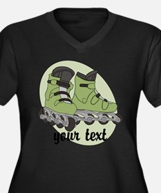 Personalized Rollerblade Plus Size T-Shirt