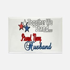 Proud Navy Husband Rectangle Magnet