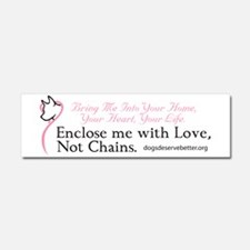 Enclose Me With Love Car Magnet 10 X 3