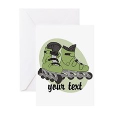 Personalized Rollerblade Greeting Cards