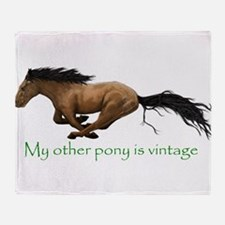 my other pony is vintage Throw Blanket