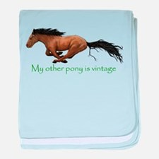 my other pony is vintage baby blanket