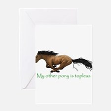my other pony is topless Greeting Cards