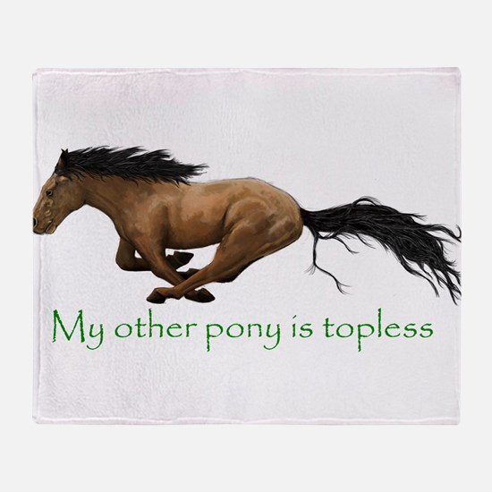 my other pony is topless Throw Blanket