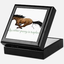 my other pony is topless Keepsake Box