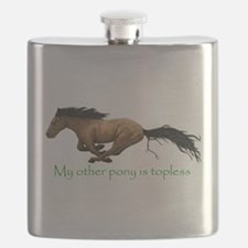 my other pony is topless Flask