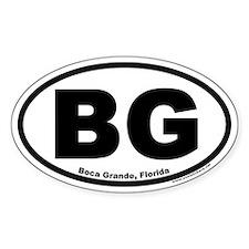 "Boca Grande, Florida ""BG"" Oval Decal"