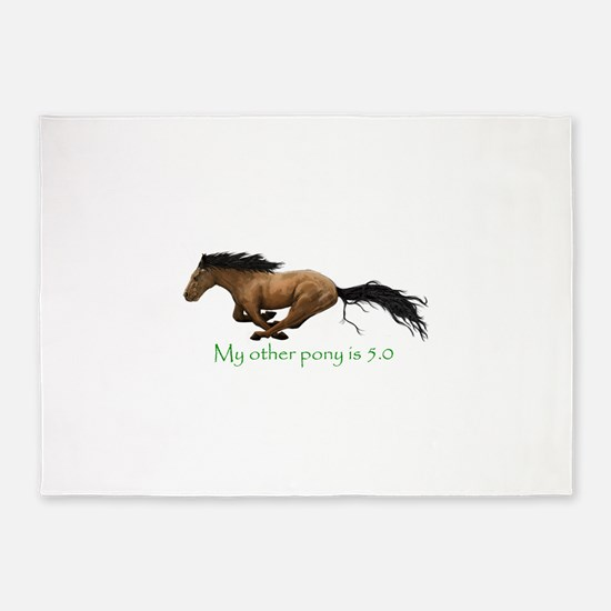 my other pony is 5.0 5'x7'Area Rug