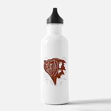 bear tracks.png Water Bottle