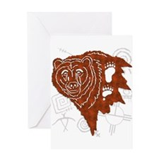 bear tracks.png Greeting Cards