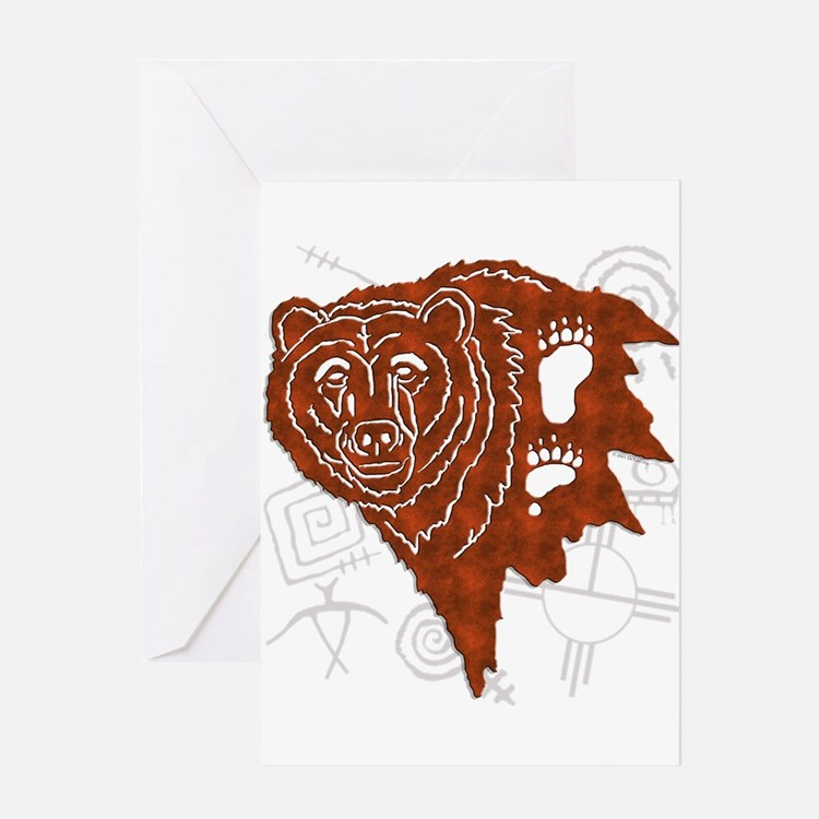bear tracks.png Greeting Cards