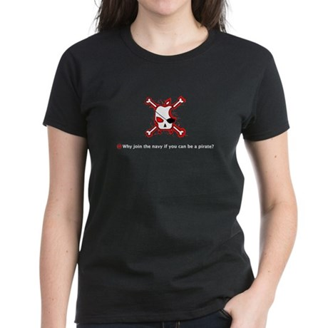Pirate Apple Women's Dark T-Shirt