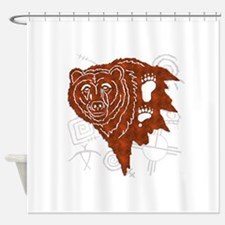 bear tracks.png Shower Curtain