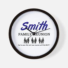 Smith Family Reunion Wall Clock