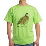 Bobwhite Cock Green T-Shirt