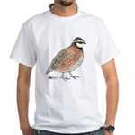 Bobwhite Cock White T-Shirt