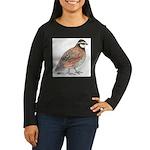 Bobwhite Cock Women's Long Sleeve Dark T-Shirt