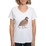 Bobwhite Cock Women's V-Neck T-Shirt