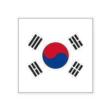 """Unique Korea Square Sticker 3"""" x 3"""""""