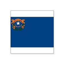 "Unique Nevada flag Square Sticker 3"" x 3"""