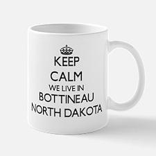 Keep calm we live in Bottineau North Dakota Mugs