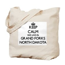 Keep calm we live in Grand Forks North Da Tote Bag