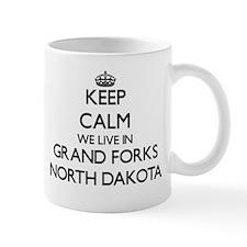 Keep calm we live in Grand Forks North Dakota Mugs