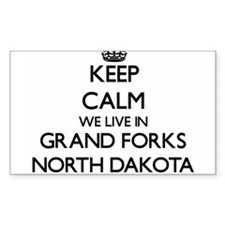 Keep calm we live in Grand Forks North Dak Decal