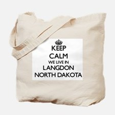 Keep calm we live in Langdon North Dakota Tote Bag