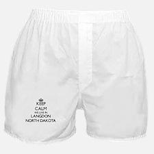 Keep calm we live in Langdon North Da Boxer Shorts