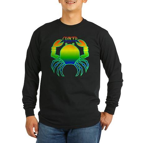 """""""Rainbow Cancer"""" Long Sleeve Dark T-Shirt"""