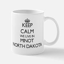 Keep calm we live in Minot North Dakota Mugs