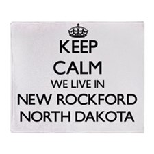 Keep calm we live in New Rockford No Throw Blanket