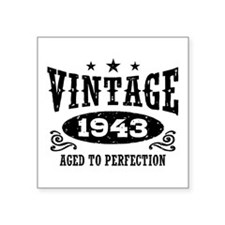 "Vintage 1943 Square Sticker 3"" x 3"""
