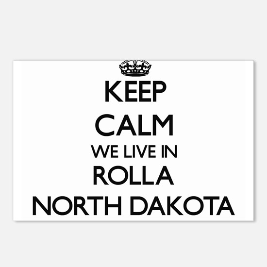 Keep calm we live in Roll Postcards (Package of 8)