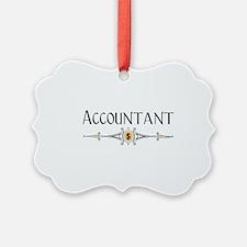 Accountant Decorative Line Ornament