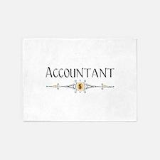 Accountant Decorative Line 5'x7'Area Rug