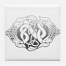 Steel Celtic Knot Dogs (T).png Tile Coaster