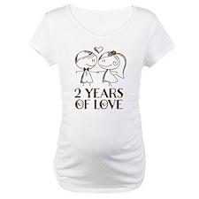 2nd Anniversary chalk couple Shirt