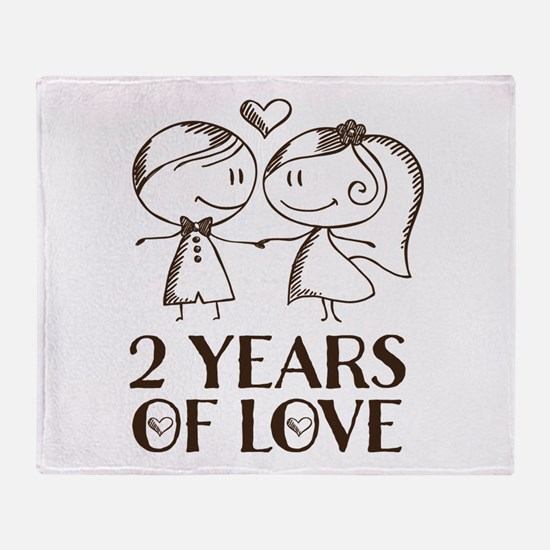 2nd Anniversary chalk couple Throw Blanket