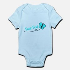 Personalizable Teal and Black Butterfly Body Suit