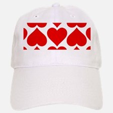 Red Hearts Pattern Baseball Baseball Cap
