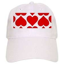 Red Hearts Pattern Baseball Cap