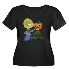 Funny Halloween Legal Alien Pumpkin T