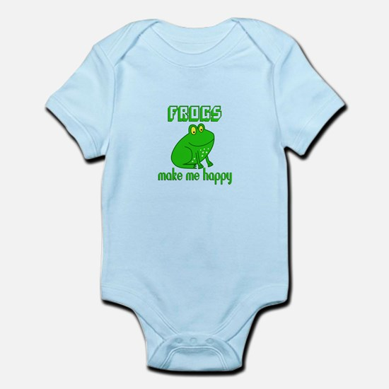 Frogs Make Me Happy Body Suit