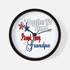 Proud Navy Grandpa Wall Clock