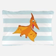 Orange Pterodactyl Dinosaur; Kids Pillow Case