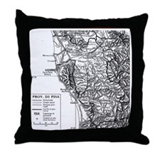 Province of Pisa Throw Pillow