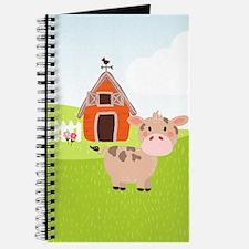 Cow and Barn, Farm Theme Kid's Journal
